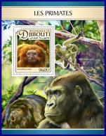 DJIBOUTI 2017 ** Primates Monkey Primaten Affen Singes S/S - IMPERFORATED - DH1711