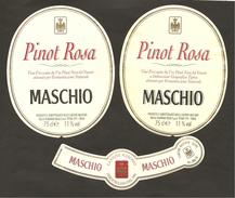 ITALIA - 2 Etichette Vino PINOT ROSA Cantine MASCHIO Di Visnà Rosato Del VENETO - Vino Rosato