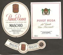 ITALIA - 2 Etichette Vino PINOT ROSA Cantine MASCHIO Di Visnà E MONTAGNER Di Motta Di Livenza Rosato Del VENETO - Vino Rosato