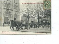"""44+NANTES-Les Inventaires De 1906-les Fourgons Stationnant Sur La Plaçe """"Saint-donatien-Animé - Nantes"""