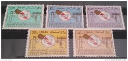 11 Lebanon 1966 Mi 935-939 Centenary Of UIT - Complete Set MNH - Telecomunnications - Telecoms - Lebanon