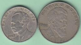 1962-MN-107 CUBA 1962 20c-40c. JOSE MARTI Y CAMILO CIENFUEGOS. CU-NI. - Cuba