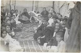 JUDAICA MOGADOR ESSAOUIRA (Maroc) Carte Photo Jewish Types Types Juifs Musiciens Superbe Plan