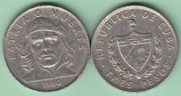 1990-MN-115 CUBA 1990 3$ ERNESTO CHE GUEVARA CU-NI. VF - Cuba