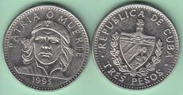 1995-MN-10 CUBA 1995 3$ ERNESTO CHE GUEVARA CU-NI. VF-XF. - Cuba
