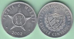 2002-MN-110 CUBA 2002 20c ALUMINIUM. UNC. - Cuba