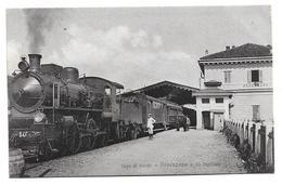 EARLY POSTCARD - LAGO DI GARDA - DESENZANO - LA STAZIONE, ITALY - STEAM TRAIN, TRAIN STATION