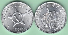 2008-MN-110 CUBA 2008 5c ALUMINIUM. UNC. - Cuba