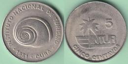 1981-MN-121 CUBA 1981 INTUR 5c Cuc POLIMITA SNAIL. CUPRO-NI. UNC. - Cuba