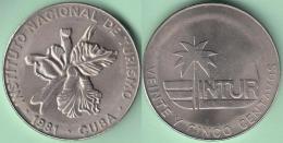1981-MN-122 CUBA 1981 INTUR 25c Cuc ORQUIDEA ORCHILD FLOWERS FLORES CUPRO-NI. UNC - Cuba