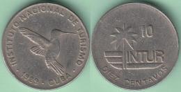1989-MN-128 CUBA 1989 INTUR 10c Cuc SMALL COIN. ZUNZUN BIRD AVES. CUPRO-NI. - Cuba