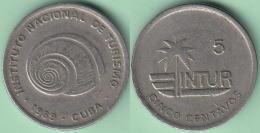 1989-MN-122 CUBA 1989 INTUR 5c Cuc POLINITA CUPRO-NI. - Cuba