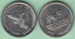1989-MN-126 CUBA 1989 INTUR 10c Cuc ZUNZUN BIRD AVES. CUPRO-NI. UNC