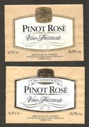 ITALIA - 2 Etichette Vino PINOT ROSE' Cantine SOCIALI MARCA TREVIGIANA Di Oderzo Rosato Del VENETO - Vino Rosato