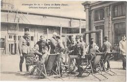 GUERRE 1914-18  Camp De Prisonniers De HALLE (Allemagne) Groupe D'officiers Français Comité Croix Rouge - Weltkrieg 1914-18