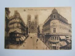 016G/ Bruxelles Rue Et église Ste Gudule, 2 Timbres Avec Cachet International Fair 1926