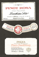 ITALIA - 2 Etichette Vino PINOT ROSE' Cantine DUCHESSA LIA Di Cazzano E PASQUA Di Verona Rosato Del VENETO - Vino Rosato