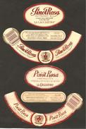 ITALIA - 2 Etichette Vino PINOT ROSA Cantine LA CACCIATORA Di Crocetta Del Montello Rosato Del VENETO - Vino Rosato