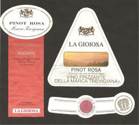 ITALIA - 2 Etichette Vino PINOT ROSA Cantine LA GIOIOSA Di Crocetta Del Montello Rosato Del VENETO - Vino Rosato