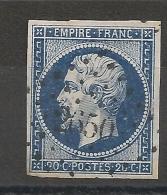 PC 2650 RENNES Ille Et Vilaine. BELLE NUANCE FONCE. - 1853-1860 Napoleon III