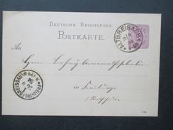 Deutsches Reich Ganzsache 1884 K1 Altbreisach / Freiburg (Breisgau) - Briefe U. Dokumente