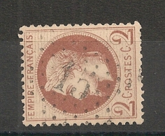 ETOILE 15 De PARIS Sur 2C Lauré. - 1863-1870 Napoléon III Lauré