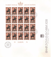 LIECHTENSTEIN - FDC - ANNO 1974 - FOGLIETTO SU BUSTONE - EUROPA CEPT - AUSBETAG  - VADUZ - 2 FDC -