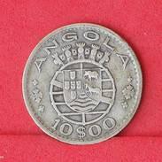 ANGOLA 10 ESCUDOS 1952 - 5 GRS 0,720 SILVER   KM# 73 - (Nº18009) - Angola