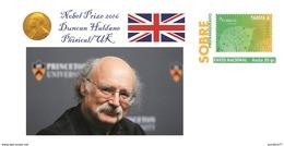 Spain 2016 - Nobel Prize 2016 - Phisical - Duncan Haldane/UK Special Cover - Prix Nobel