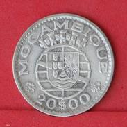 MOZAMBIQUE 20 ESCUDOS 1966 - 10 GRS 0,720 SILVER   KM# 80 - (Nº18015) - Mozambico