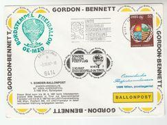 1987 CAMTC BALLOON FLIGHT COVER GORDON BENNETT United Nations Industry  Slogan Pmk Stamps Ballooning Un  Austria - Transport