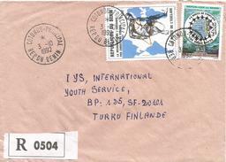 Benin 1995 Cotonou 300f Slave Trade Michel 620 Discovery America 500f Michel 512 Registered Cover. Wrong Year Slug! - Benin – Dahomey (1960-...)