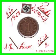 GERMANY  -   MONEDA  DE  1- REICHSPFENNIG  AÑO 1929 E   Bronze - 1 Rentenpfennig & 1 Reichspfennig