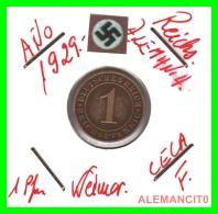 GERMANY  -   MONEDA  DE  1- REICHSPFENNIG  AÑO 1929 F   Bronze - 1 Rentenpfennig & 1 Reichspfennig