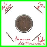GERMANY  -   MONEDA  DE  1- REICHSPFENNIG  AÑO 1929 G   Bronze - 1 Rentenpfennig & 1 Reichspfennig