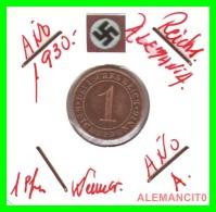 GERMANY  -   MONEDA  DE  1- REICHSPFENNIG  AÑO 1930 A   Bronze - 1 Rentenpfennig & 1 Reichspfennig