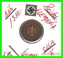 GERMANY  -   MONEDA  DE  1- REICHSPFENNIG  AÑO 1930 F   Bronze - 1 Rentenpfennig & 1 Reichspfennig