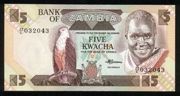 Sambia - Zambia 1980-1988, 5 Kwacha - UNC - Sambia