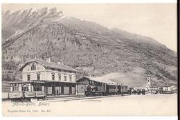 BEVERS Albulabahn: Dampfzug Am Bahnhof, Animiert ~1900 - GR Grisons
