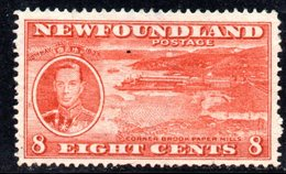 XP2949 - NEWFOUNDLAND 1937 ,  Gibbons 8 Cent N. 260  Usato - Terre-Neuve