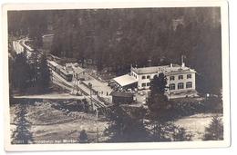 BERNINABAHN: Zug Bei Bahnhof MORTERATSCH, Restaurant 1929 - GR Grisons