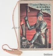 """CALENDARIETTO_ALMANACCO_del 1951-""""Ingrid Bergman In GIOVANNA D'ARCO""""_-Completo-Originale 100% - Calendriers"""