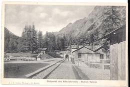 ALBULABAHN: Südportal Albulatunnel, Station SPINAS ~1900 - GR Grisons