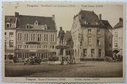 CPA Tongeren Tongres Standbeeld Van Ambiorix - Oude Huizen Statue D'Ambiorix Vieilles Maisons 1936 - Tongeren