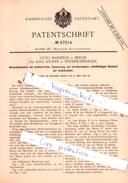 Original Patent - O. Mansfeld In Berlin Und K. Knappe In Friedrichshagen , 1892 , Mechanische Metallbearbeitung !!! - Historische Dokumente