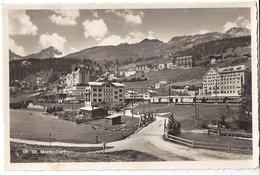 ST.MORTIZ: Bahnhof Mit Berninabahn, Zug, Dorf-Teilansicht 1937 - GR Grisons