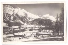 PONTRESINA: Bahnhof Mit Berninabahn, Zug, Winteransicht ~1925 - GR Grisons