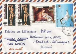Benin 1994 Ouagbo Cranach Painting Overprint Michel 533 5f On 100f Michel 554 II WWF Cover - Benin – Dahomey (1960-...)