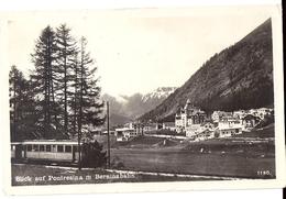 PONTRESINA: Zug Berninabahn Mit Dorf 1927 - GR Grisons