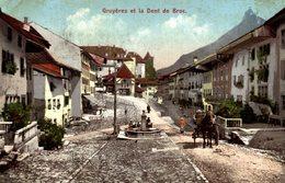 Gruyères Et La Dent De Broc. Attelage   SCHWEIZ SWITZERLAND SVIZZERA Suisse SUIZA - FR Freiburg